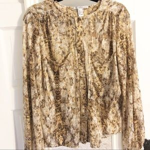 MNG by Mango Snakeskin Top - size M